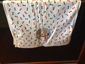 Patriotic Dog Towel