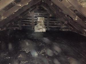 The original chimney in the summer kitchen at God's Whisper Farm