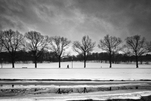 Solitude, Silence, Wintry day